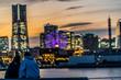 Yokohama at dusk ~classic date spot ~ 横浜 みなとみらい デート 定番