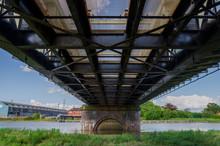 A View Of The Under Side Of Hawarden Bridge In Deeside, Flintshire