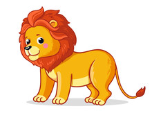 Cute Young Lion Stands On A Wh...