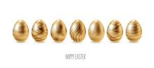 Easter Eggs, Happy Easter. Vec...
