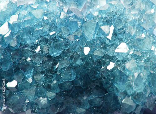 aquamarine gem crystal quartz mineral geological background Canvas Print