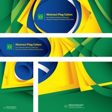 Abstract Brazilian Flag, Flag ...