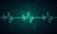 Ekg Heart Beat Line Monitor. H...