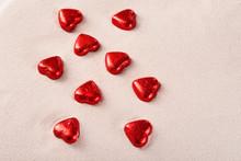 Chocolate Red Praline Hearts O...