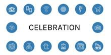 Celebration Simple Icons Set
