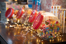 Candy Sweets Jar On A Dessert ...