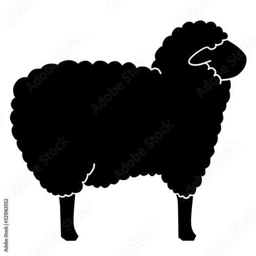 Foto black icon of a sheep