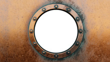 Round Metal Frame Isolated On The White