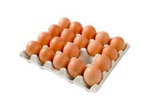 Fresh Brown Eggs In Paper Cart...