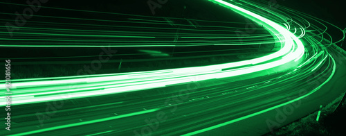 Photographie lights of cars with night. long exposure