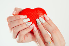Love For Manicure Art Concept....