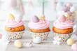 canvas print picture - Kleine Cupcakes zu Ostern