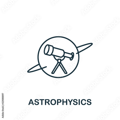 Astrophysics icon from science collection Wallpaper Mural