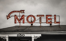 Old Neon Motel Sign