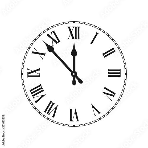 Cuadros en Lienzo Clock face with roman numerals