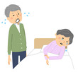泣く高齢者 老老介護 反省