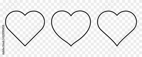 Fototapeta heart icons set. obraz na płótnie