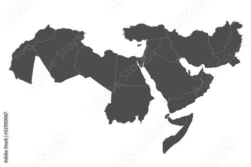 Fotografie, Tablou Map of Middle East