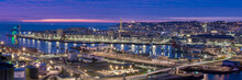 Panorama Ville Du Havre De Nuit