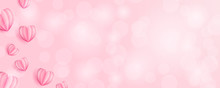 Hearts Bokeh Background Banner...
