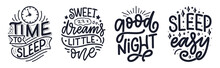 Lettering Slogan About Sleep A...