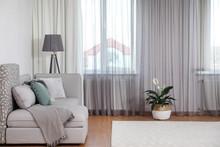 Window With Stylish Curtains I...