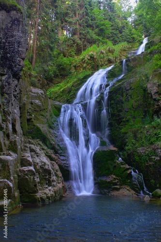 Fototapeta Waterfall Kamienczyka in Szklarska Poreba Poland obraz
