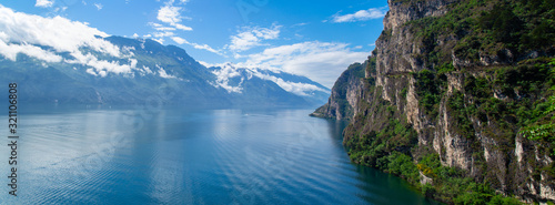 Summer view over of lake Garda in Italy Canvas