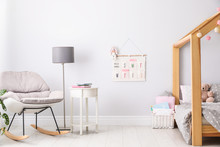Stylish Child Room Interior Wi...