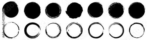 Grunge round shapes. Grunge banner collection. Vector Fototapet