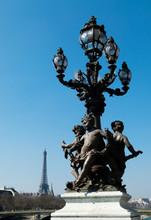 Iron Sculpture In Lamp Post