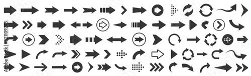 Fotografie, Obraz Arrow icon. Mega set of vector arrows