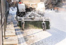Snow Removal Process On Winter...