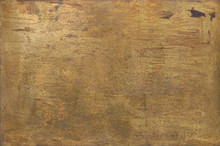 Rusty Golden Metal Surface Wit...