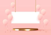 Balloons And Presentation Plat...