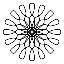 Abstract Mandala On White Back...