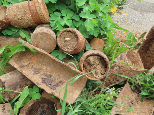 Photo Rusty artillery shells