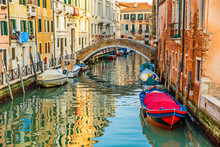 Modern Boats In Grand Canal In...