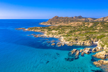 Aerial View Of Corsican Rocky ...