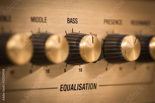 Guitar amp bass knob Wallpaper Mural
