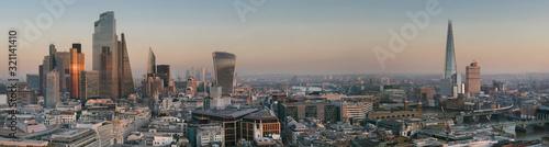 Fototapeta europe, UK, England, London, City skyline from St Pauls 2020 obraz na płótnie