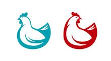 Chicken Logo Or Label. Farm Animal Symbol Vector