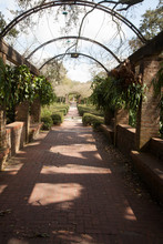 Stone Path Outside With Arches