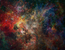 Galactic Space. Colorful Stars...