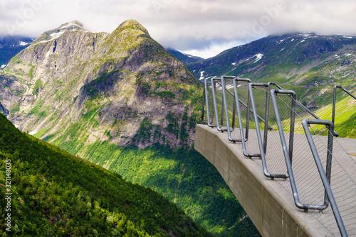 Fotografia, Obraz Utsikten viewpoint in Norway