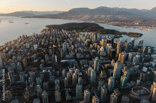 Sunset over the City of Vancouver
