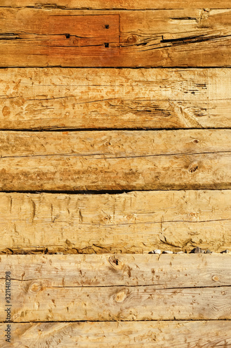 Fotomural Wood texture, old oak railway sleepers