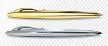Ballpoint Pen Golen And Silver...
