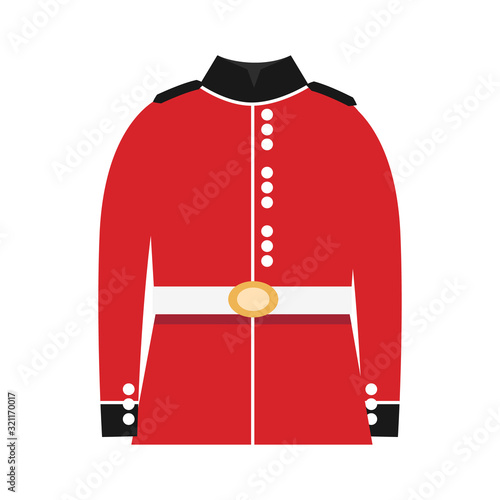 British soldier clothes in flat style Canvas Print
