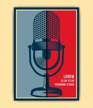 Illustration Of Vintage Music Event Poster Template